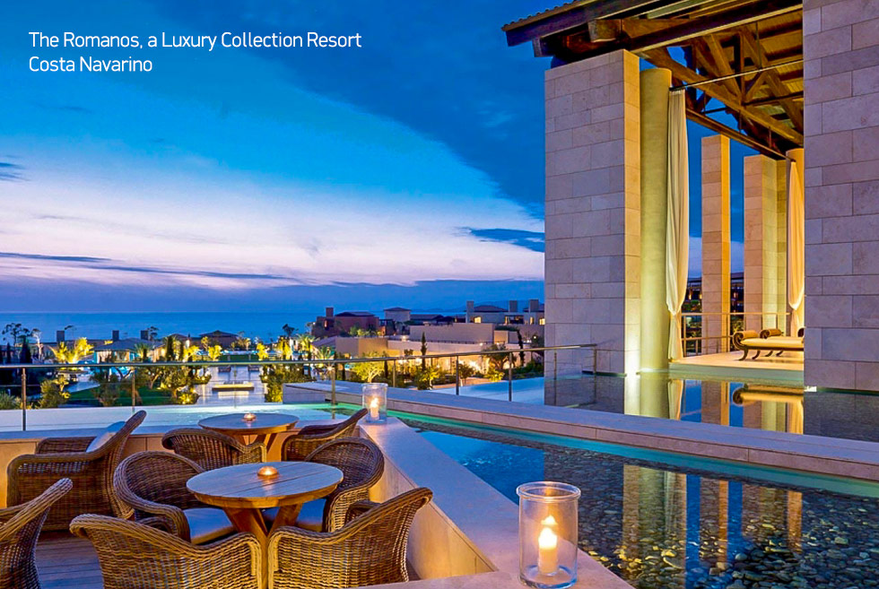 Costa Navarino. Romanos Resort. Luxury Hotel in Peloponnese Greece.