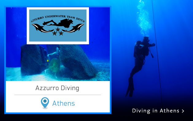 Scuba Diving in Greece. Azzurro Diving Center. Athens Greece