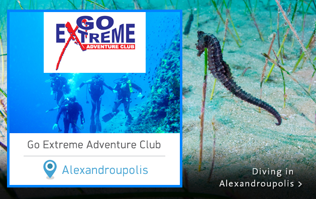 Scuba Diving in Greece. Go Extreme Adventure Club. Alexandroupolis