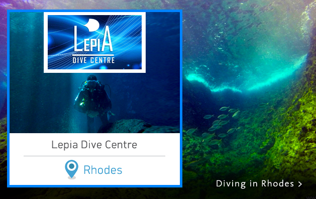 Scuba Diving in Greece. Lepia Dive Centre. Rhodes island