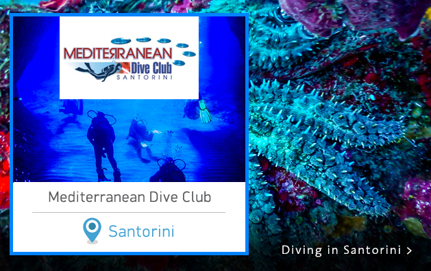 Scuba Diving in Greece. Mediterranean Dive Club Center. Santorini island