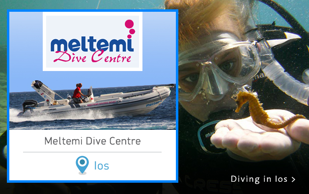 Scuba Diving in Greece. Meltemi Dive Center. Ios island