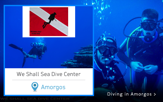 Scuba Diving in Greece. We shall Sea Dive Center. Amorgos island