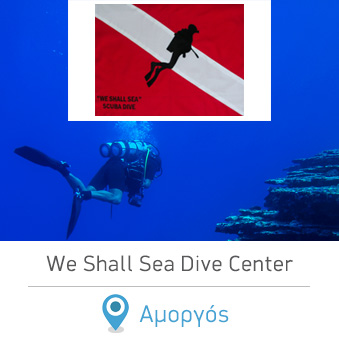 We Shall Sea Dive Center Amorgos scuba diving Cyclades Greece. Καταδυτικά Κέντρα στην Ελλάδα