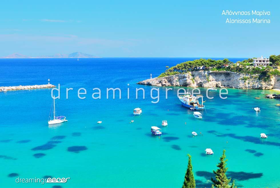 Alonissos island Marina Sporades Islands Greece