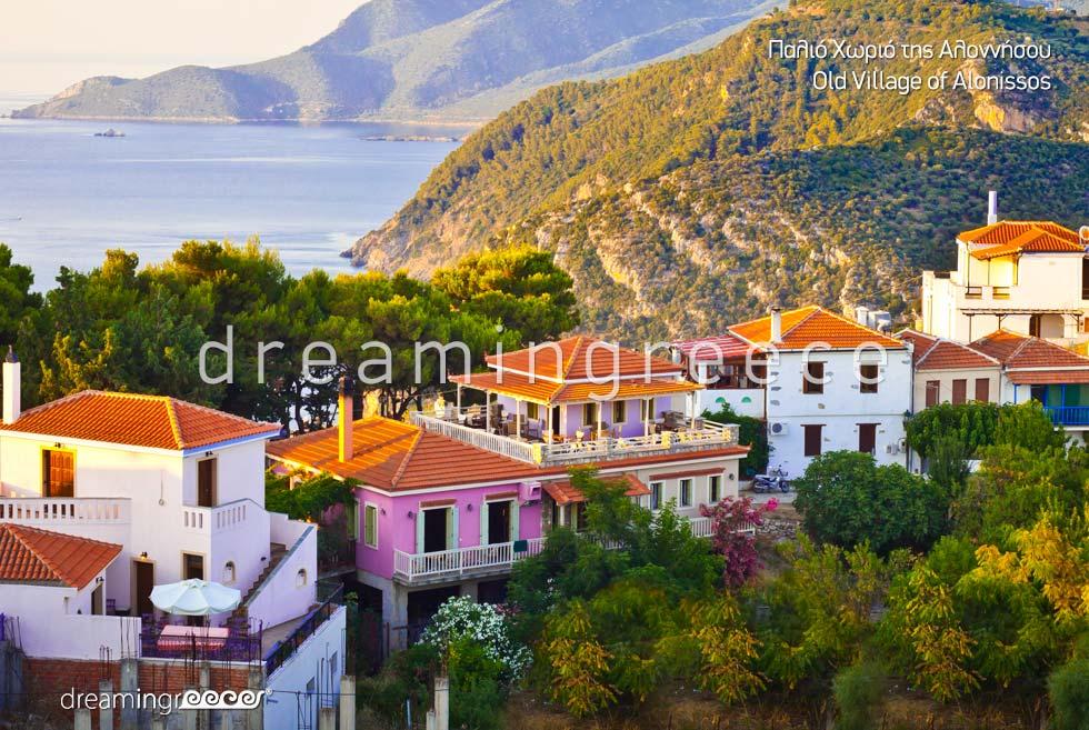 Old Village of Alonissos island Sporades Islands Greece