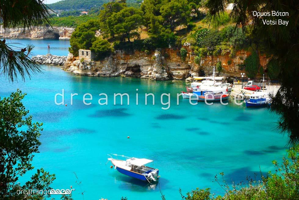 Votsi bay Alonissos island Sporades Islands Greece