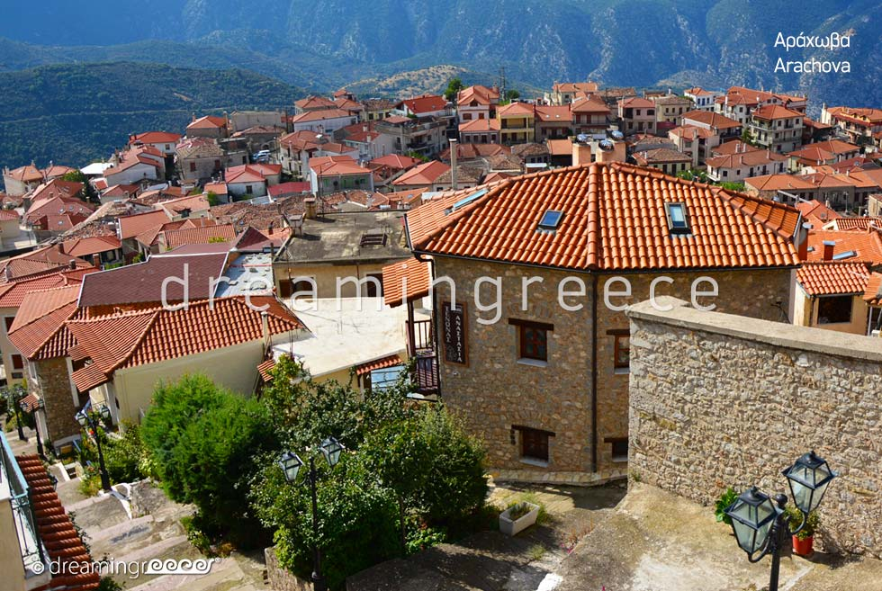 View of Arachova Greece