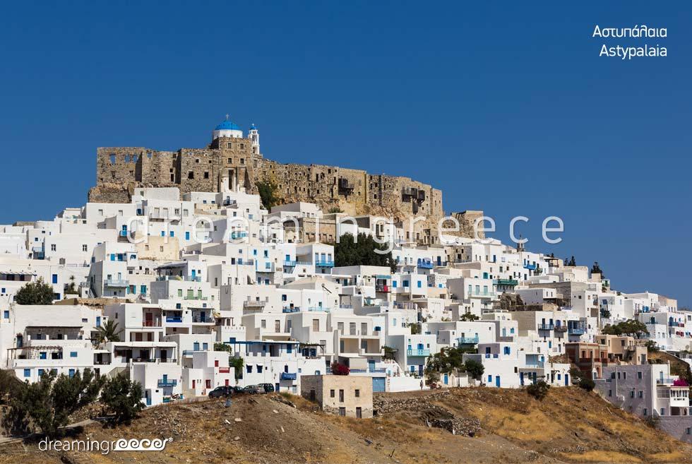 Venetian Castle Astypalaia island Dodecanese. Discover Greece