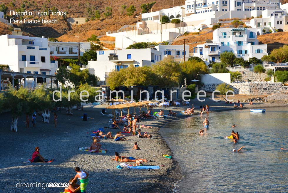 Astypalia Beaches. Pera Gialos Beach. Vacations in Astypalaia island Greece.
