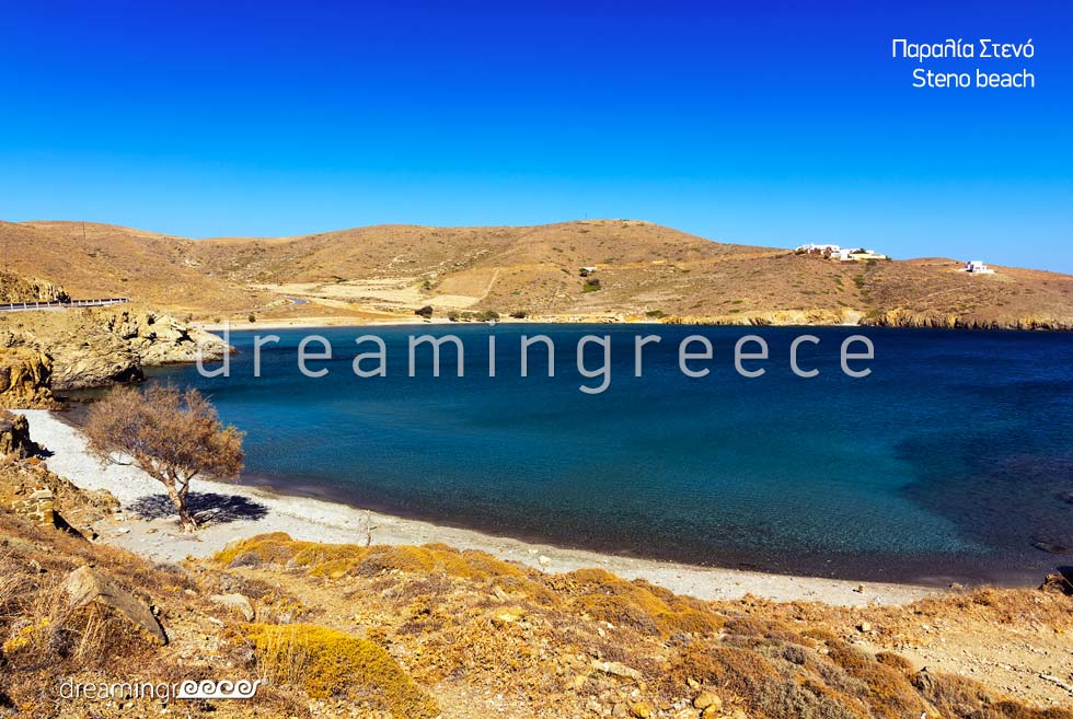 Astypalia Beaches. Steno Beach. Holidays in Astypalaia island Greece.