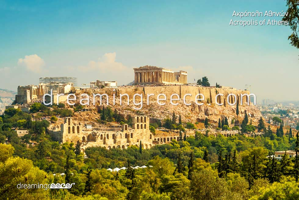 Vacations Parthenon Acropolis Athens Greece