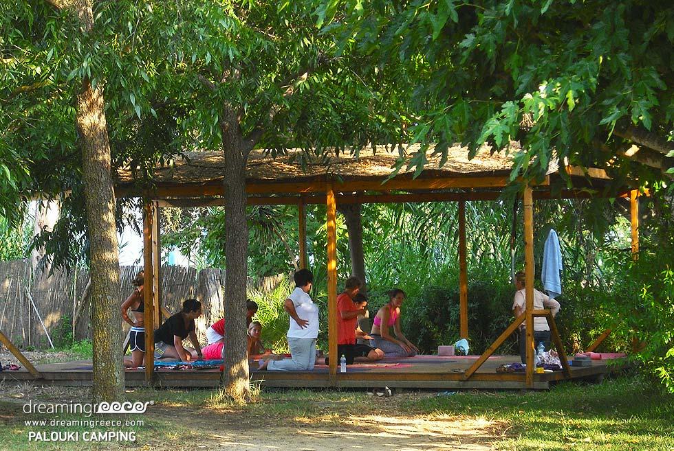 Yoga Camping Palouki in Amaliada. Camping in Greece. Activities in Greece.
