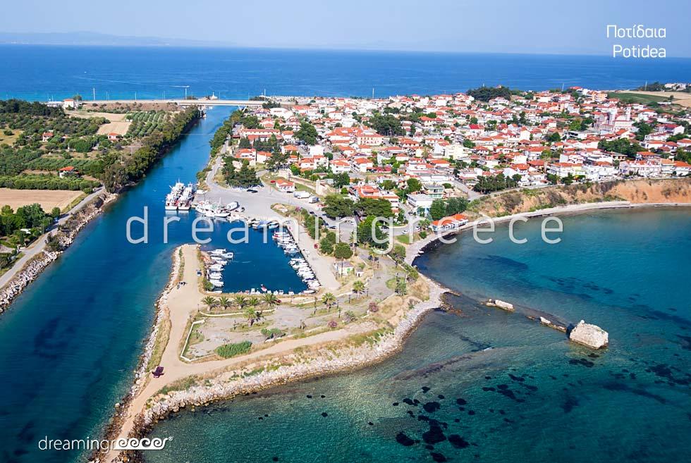 Potidea Halkidiki. Discover Greece. Travel Guide of Chalkidiki.