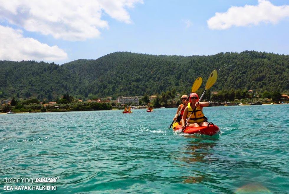 Sea Kayak Halkidiki. Kayaking Greece. Vacations in Chalkidiki.