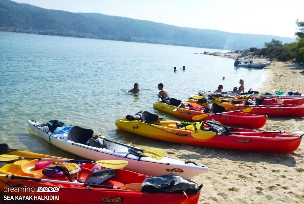 Sea Kayak Chalkidiki Kayaking Greece. Holidays in Halkidiki.