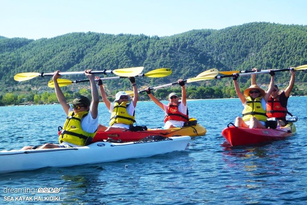 Sea Kayak Halkidiki. Kayaking holidays in Greece