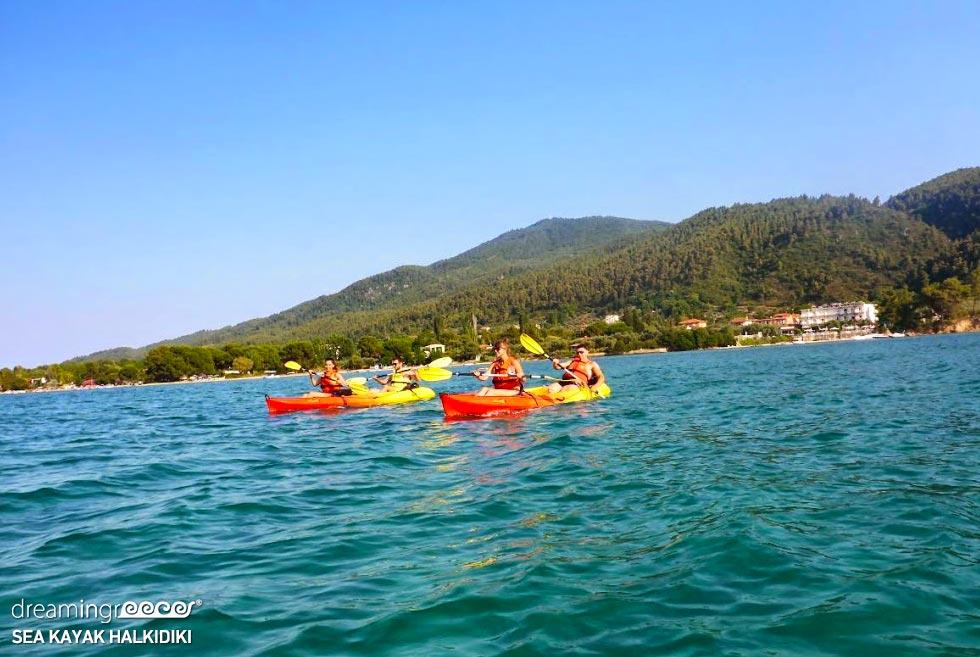 Sea Kayak Halkidiki. Kayaking in Greece. Vacations in Halkidiki