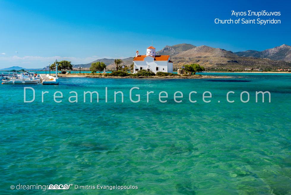 Saint Spyridon beach in Elafonisos island. Holidays Greece