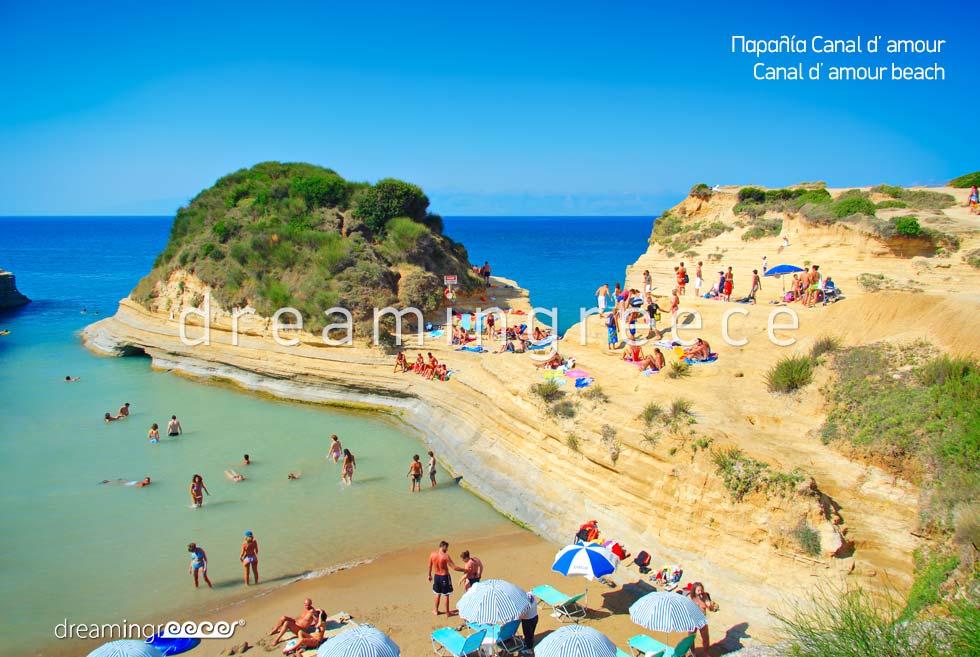 Holidays Greece. Canal d amour beach. Greek islands.