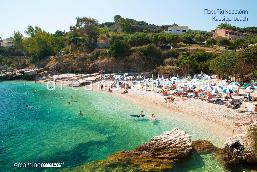 Vacations Greece. Corfu island Greece. Corfu beaches. Kasiopi beach.