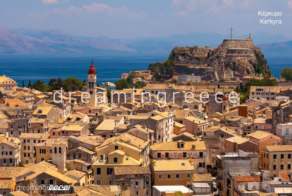 Summer Holidays Corfu island Kerkyra Greece Ionian Islands