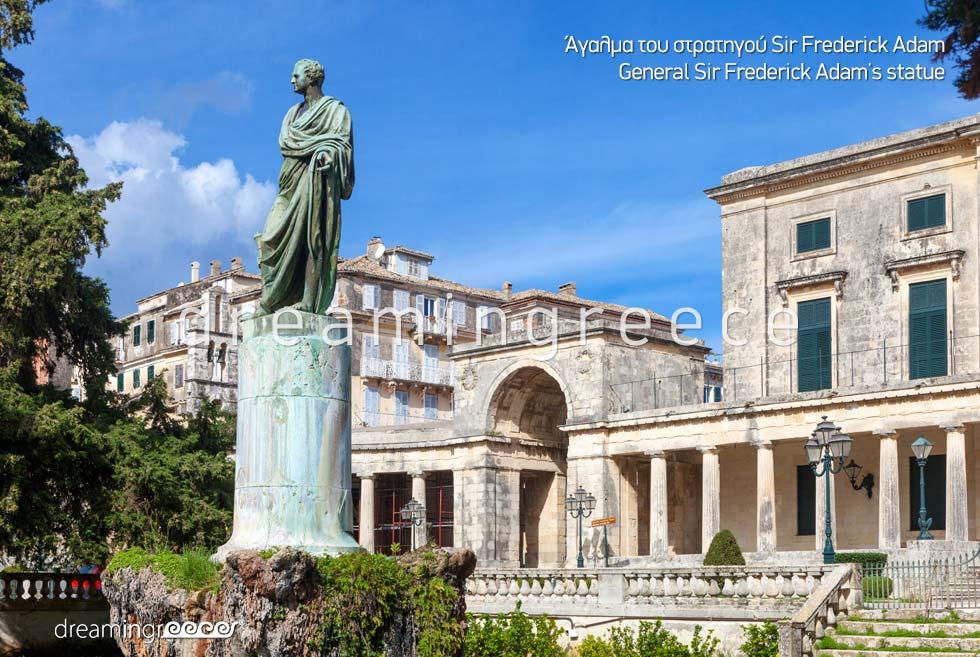 Corfu island Kerkyra Greece - General Sir Frederick Adam
