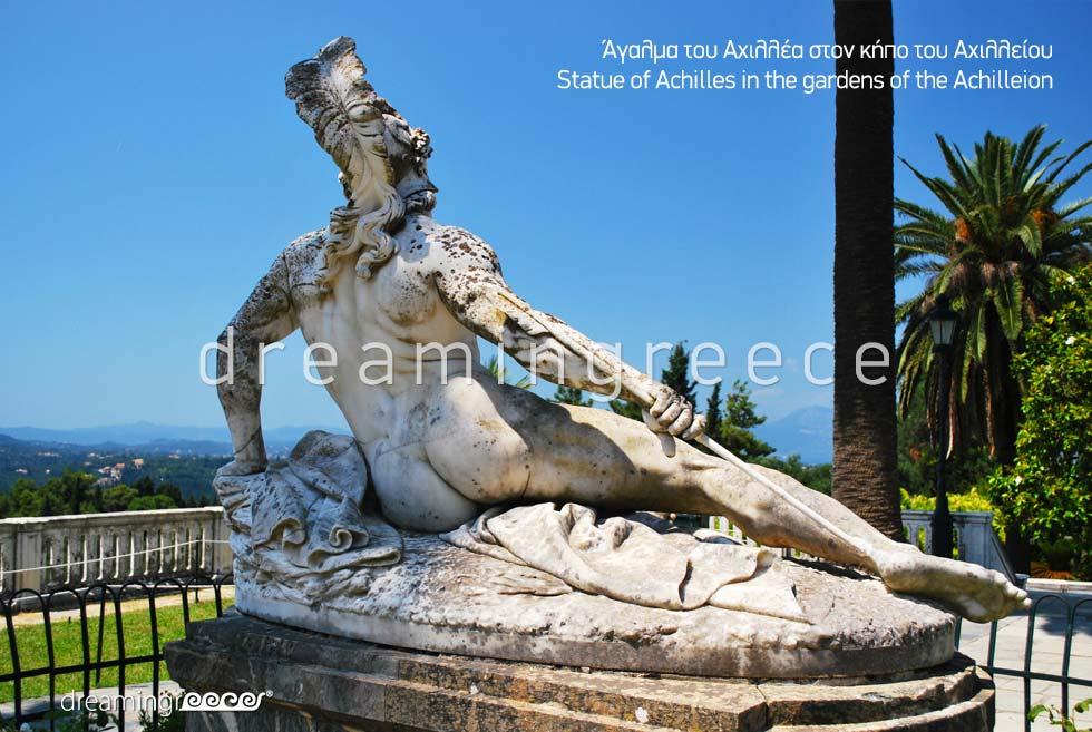 Corfu island Kerkyra Greece - Statue of Achilles