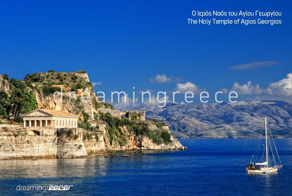 Travel Guide Corfu island Kerkyra Greece -  Holy Temple of Agios Georgios