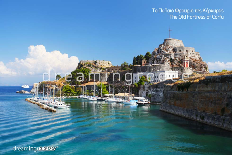 Corfu island Greece - Old Fortress of Kerkyra Ionian Islands