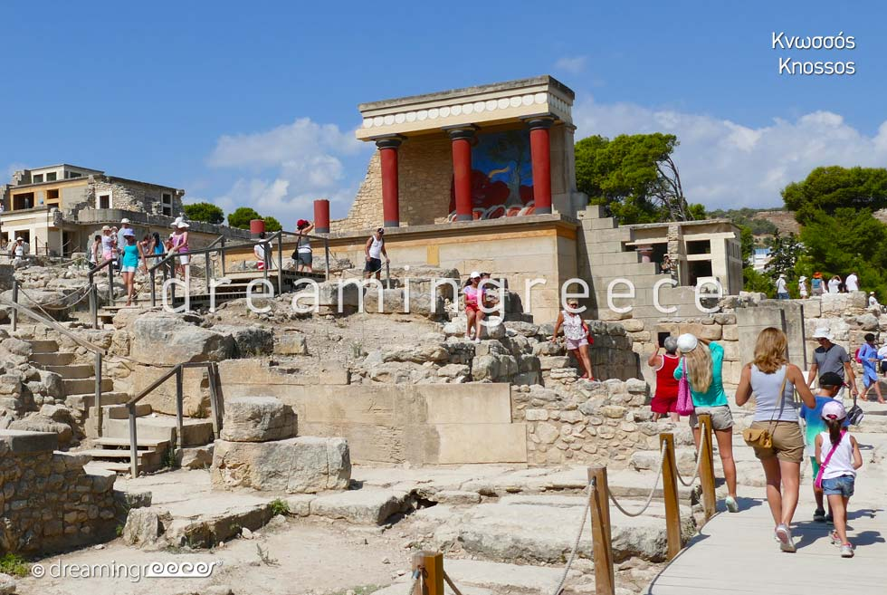 Knossos Heraklion Crete island Greece