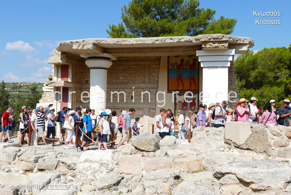 Knossos Heraklion Crete island. Summer Holidays in Greece