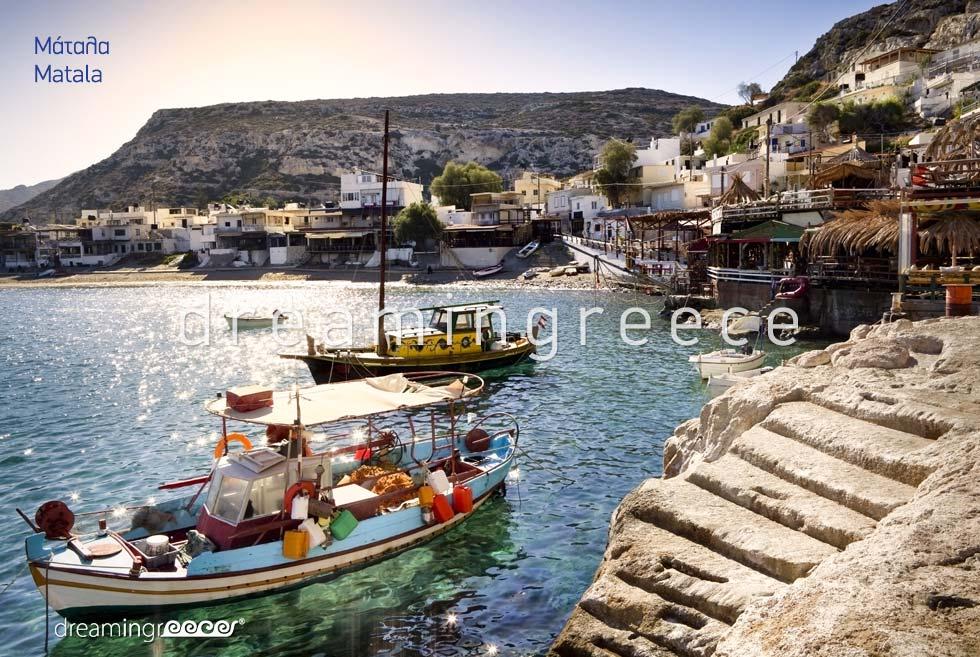Matala Heraklion Crete island. Discover Greece