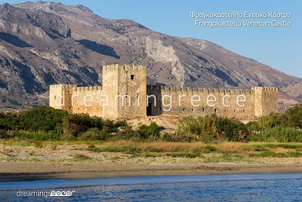 Frangokastello Venetian Castle Chania Crete island Greece