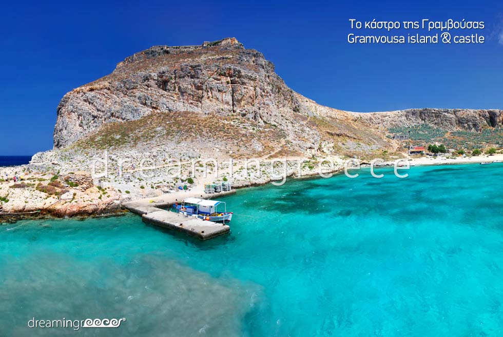 Gramvousa island Chania Crete island. Travel to Greece. Greek islands.