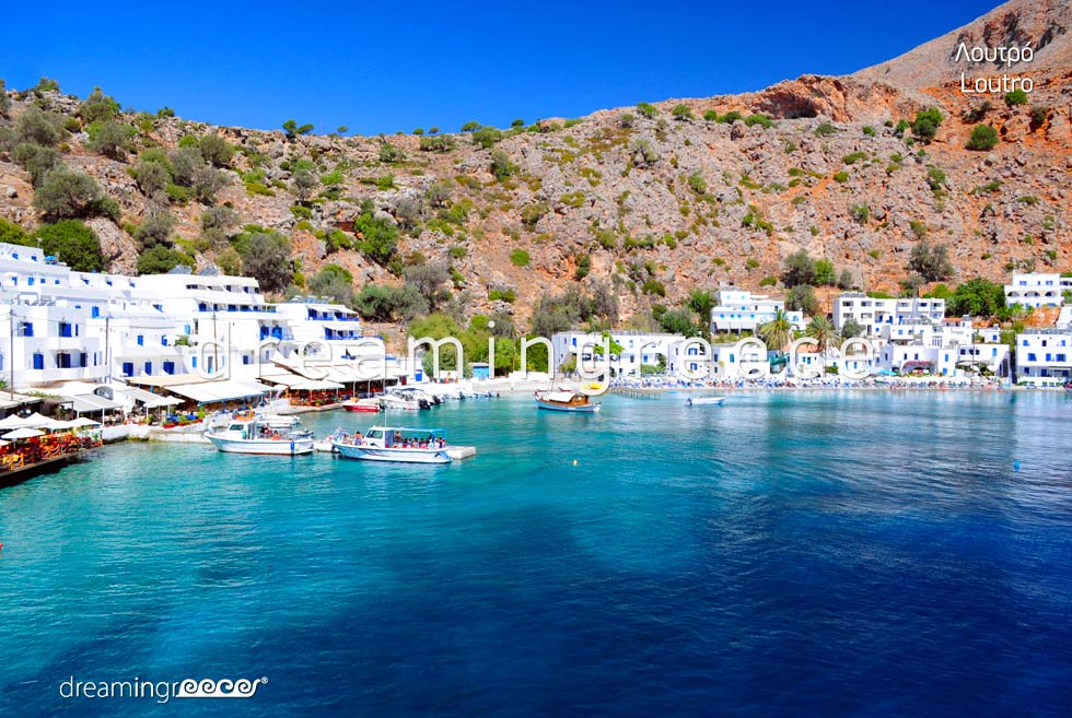 Loutro Chania Crete island. Travel guide of Chania Greece Vacations.