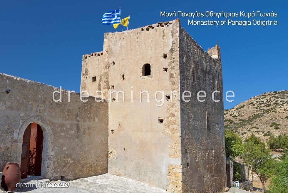 Monastery Panagia Odigitria Chania Crete island Greece