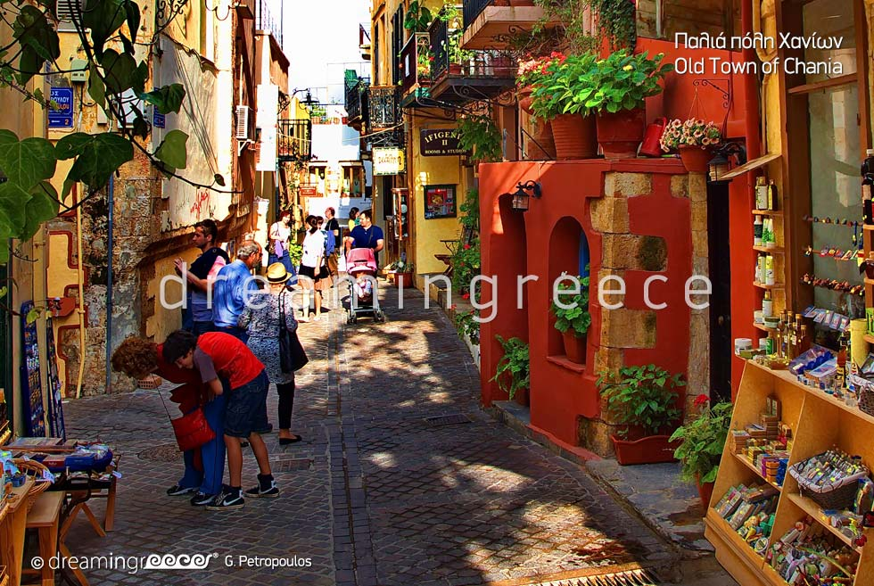 Old Town of Chania Crete island. Summer Holidays in Greece