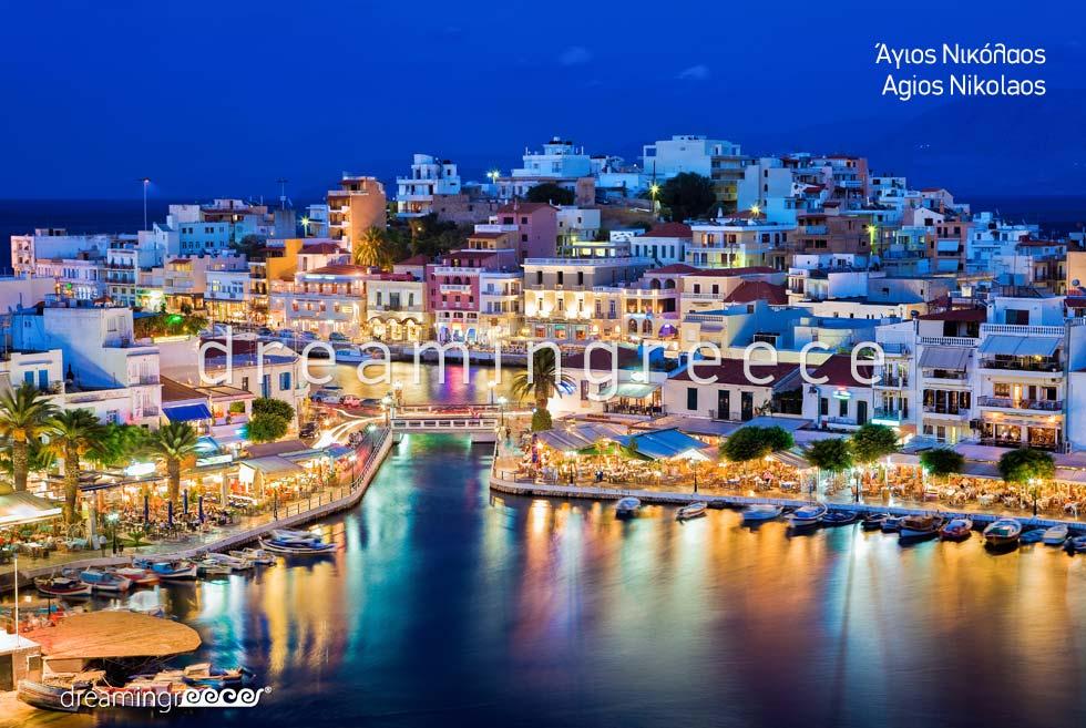 Agios Nikolaos Lasithi Crete island. Travel guide of Greece