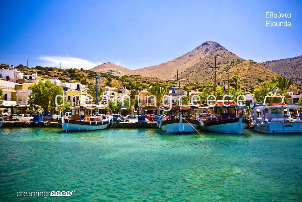 Elounda Lasithi Crete island. Summer Holidays in Greece