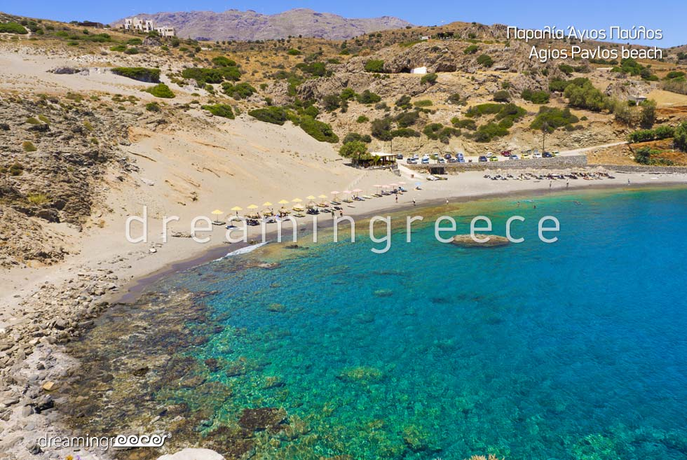 Holidays in Agios Pavlos beach in Rethymno Crete Greece