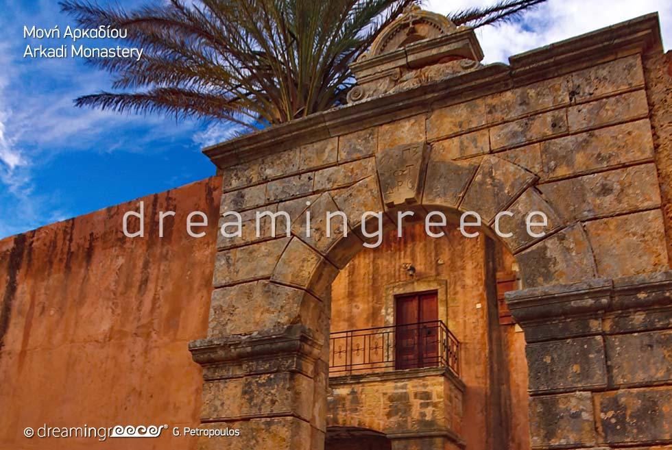 Rethymno Crete island Greece Arkadi Monastery