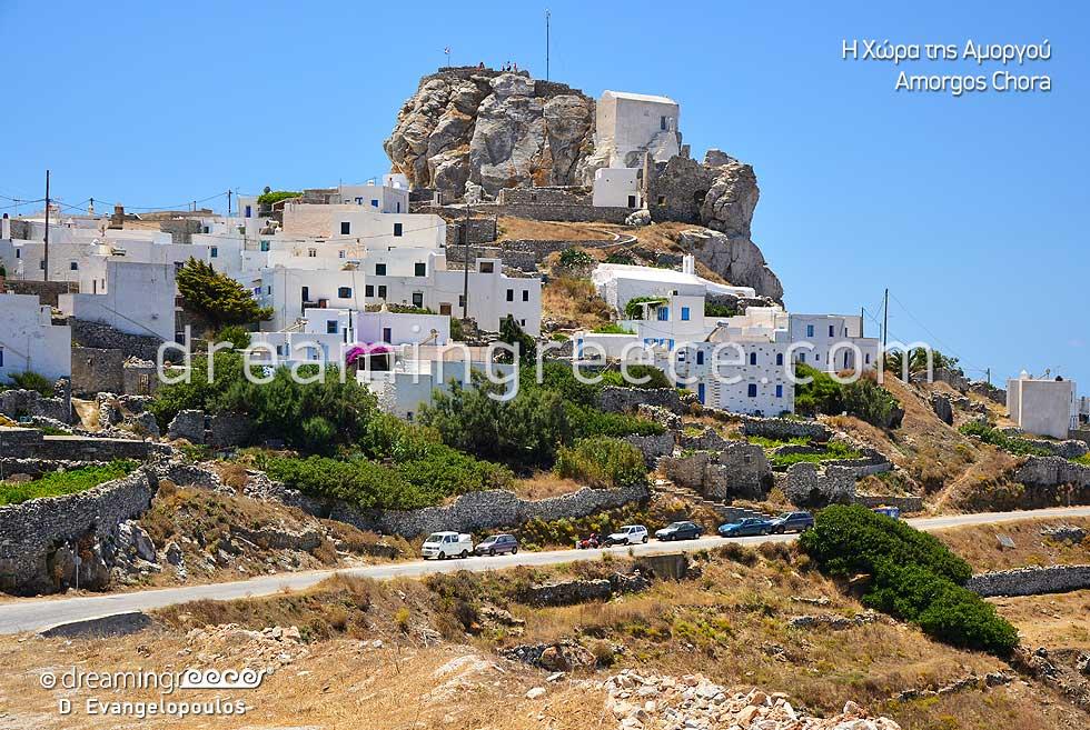 Visit Amorgos Chora Cyclades islands. Summer Greece