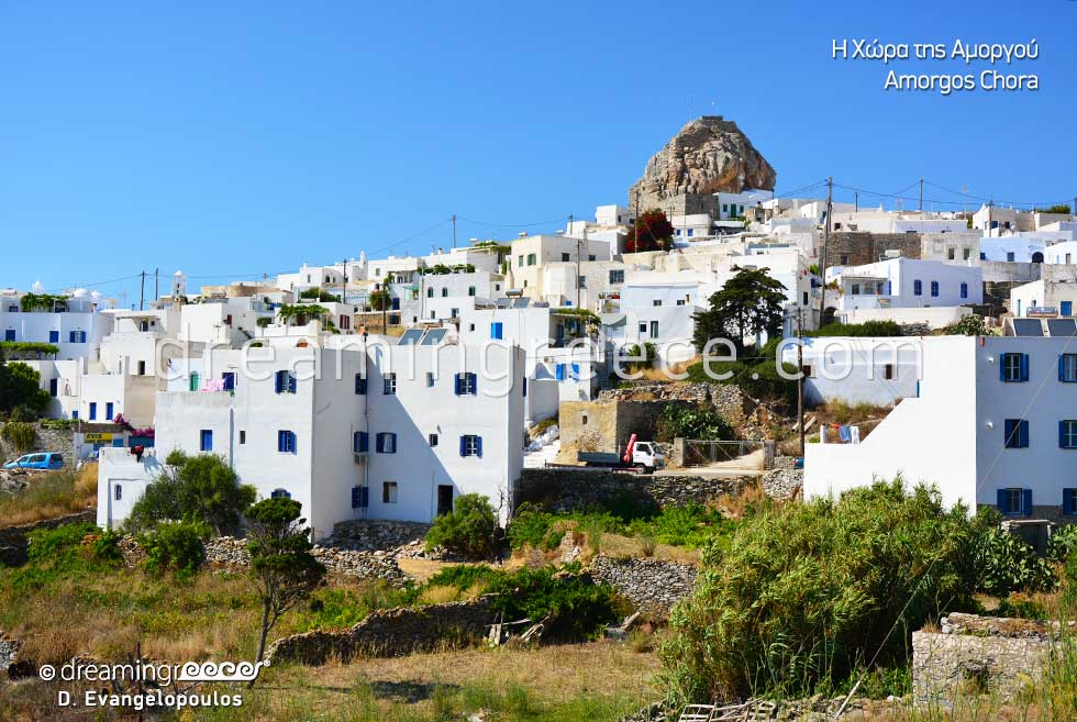 Travel Guide of Amorgos Chora Greece Cyclades islands