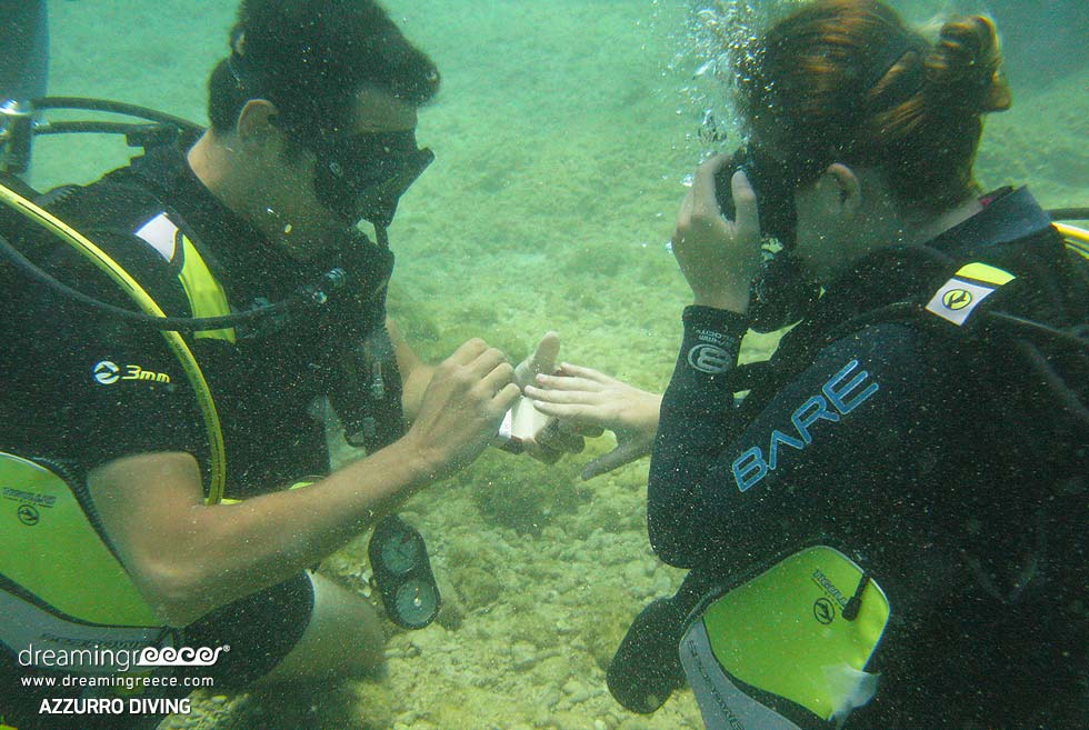 Azzurro Diving Center. Diving Center in Athens. Greece Tours.