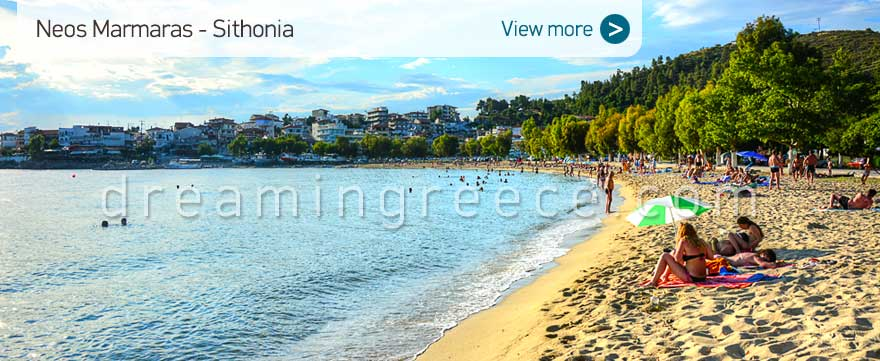 Neos Marmaras beach Halkidiki Beaches Sithonia Greece. Cahlkidiki Beaches.