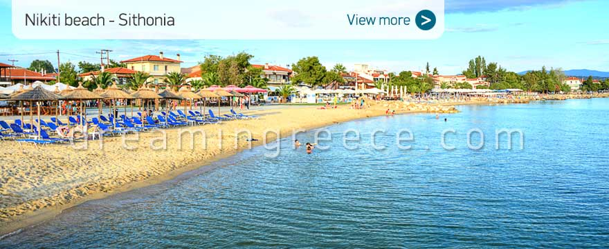 Nikiti beach Halkidiki Beaches Sithonia. Summer Holidays Greece