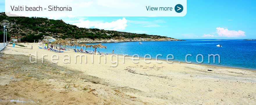 Valti beach Halkidiki Beaches Sithonia Greece. Beaches in Greece.