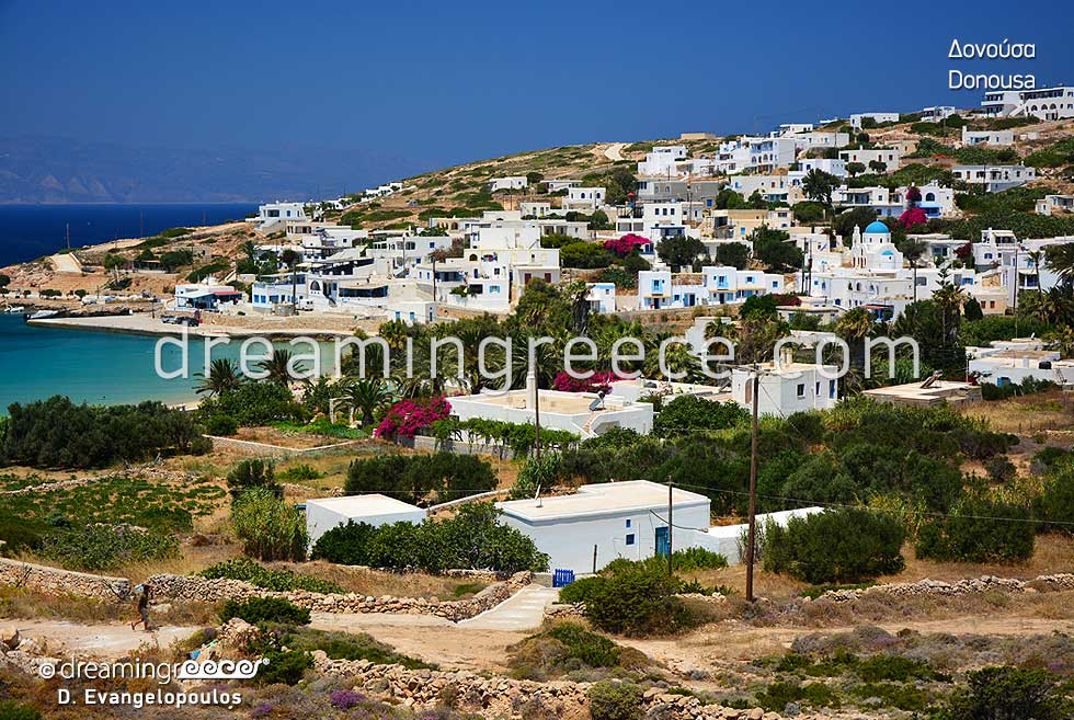 Holidays in Donousa island Small Cyclades Greece. Greek islands.