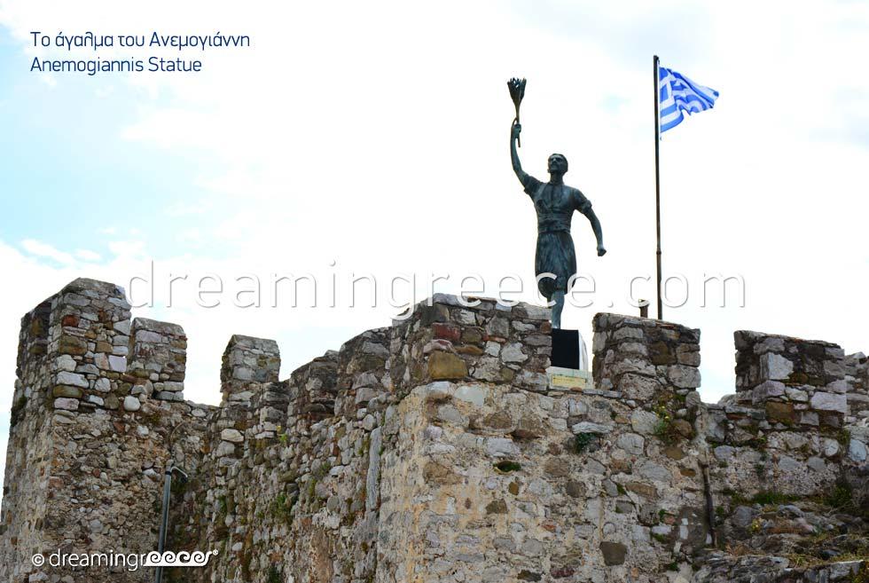 Anemogiannis Statue in Nafpaktos